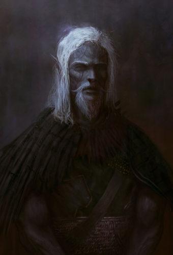 Thandlin, the dark elf mage.